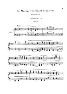 Das Martyrium des Heiligen Sebastian, L.124: Fragmente, für Klavier by Claude Debussy