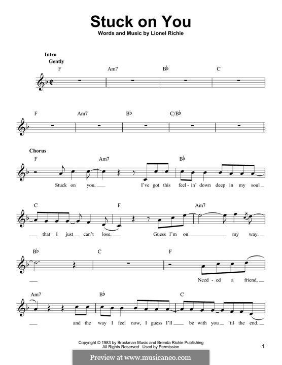 Stuck on You: Melodische Linie by Lionel Richie