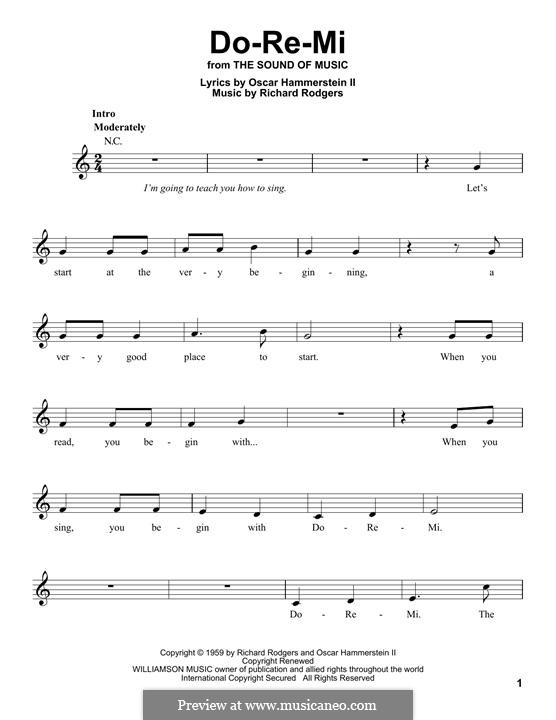 Do-Re-Mi (from The Sound of Music): Melodische Linie by Richard Rodgers