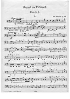 Konzert für Cello und Orchester in h-Moll, B.191 Op.104: Fagottstimme II by Antonín Dvořák