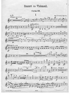 Konzert für Cello und Orchester in h-Moll, B.191 Op.104: Hornstimme III by Antonín Dvořák