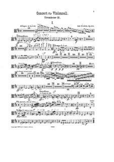 Konzert für Cello und Orchester in h-Moll, B.191 Op.104: Posaunestimme II by Antonín Dvořák