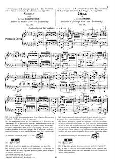Sonate für Klavier Nr.12 in As-Dur, Op.26: Für einen Interpreten by Ludwig van Beethoven