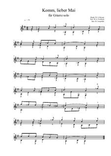 Komm lieber Mai: Für Gitarre by Wolfgang Amadeus Mozart