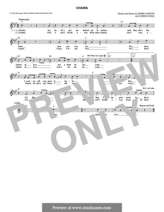 Chains: Melodische Linie by Carole King, Gerry Goffin