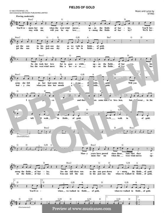 Fields of Gold: Melodische Linie by Sting