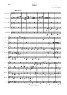 Details: For clarinet quintet (4 B flats and 1 Bass) by David W Solomons