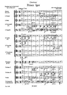 Vollständiger Oper: Ouvertüre by Alexander Porfiryevich Borodin