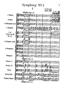 Sinfonie Nr.1 in Es-Dur: Teil I by Alexander Porfiryevich Borodin