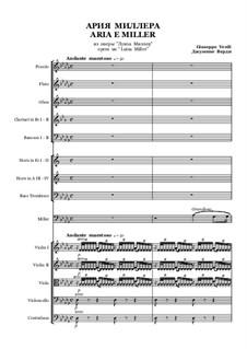 Luisa Miller: Aria of Miller by Giuseppe Verdi