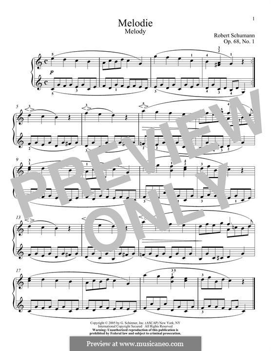 Nr.1 Melodie: Für Klavier by Robert Schumann