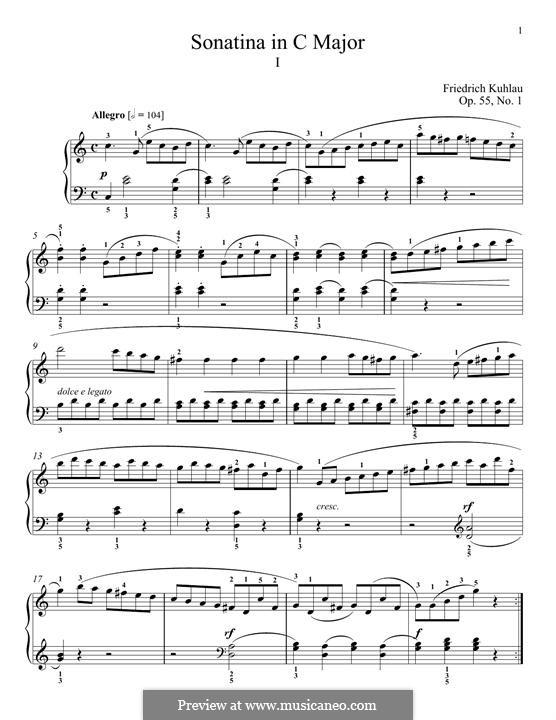 Sechs Sonatinen, Op.55: Sonatine Nr.1 by Friedrich Kuhlau