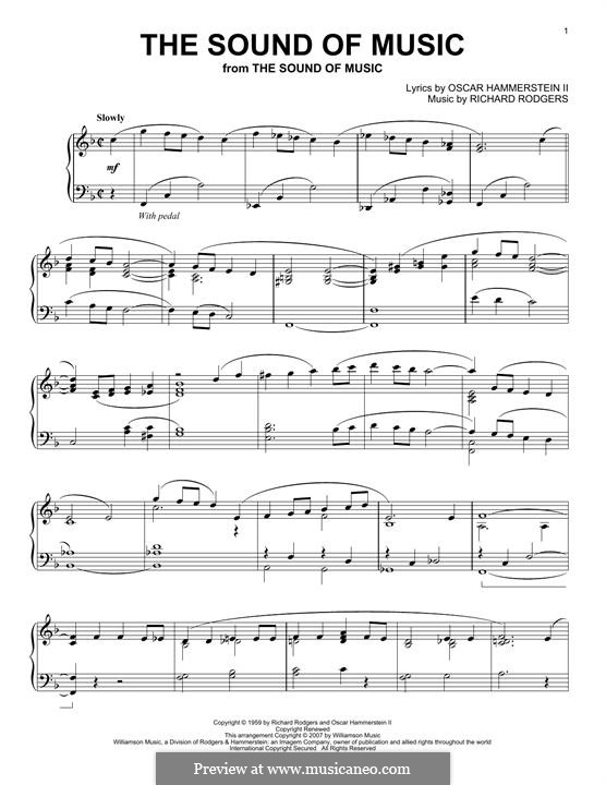The Sound of Music: Für Klavier by Richard Rodgers