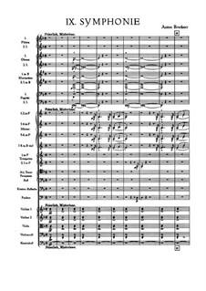 Sinfonie Nr.9 in d-Moll, WAB 109: Vollpartitur by Anton Bruckner