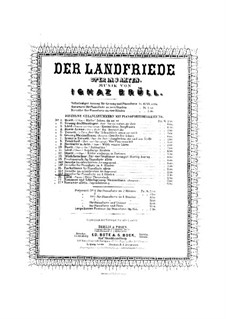 Der Landfriede, Op.30: Fackeltanz für Klavier, vierhändig by Ignaz Brüll