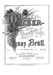 Zwei Klavierstücke, Op.50: Nr.1 Walzer by Ignaz Brüll