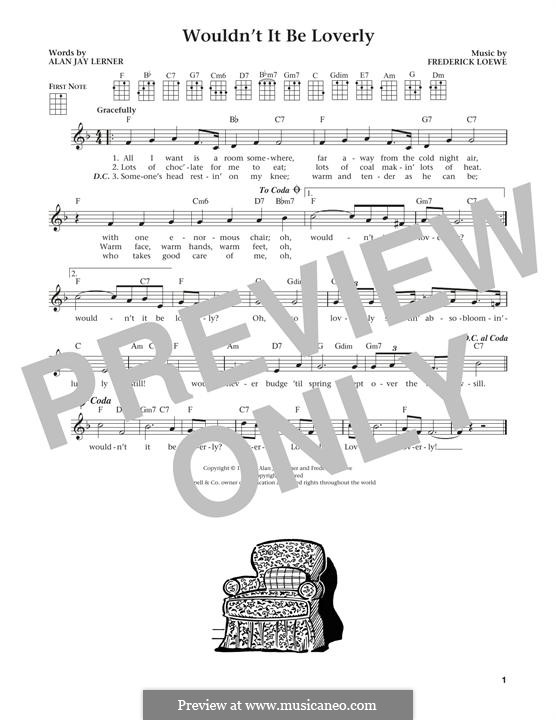 Wouldn't It Be Loverly (from My Fair Lady): Für Ukulele by Frederick Loewe