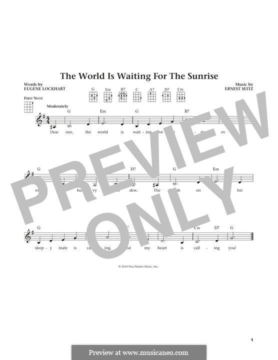 The World is Waiting for the Sunrise: Für Ukulele by Ernest Seitz