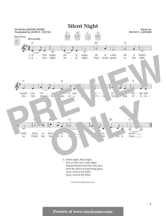 Stille Nacht (Noten zum Direktausdruck): Für Ukulele by Franz Xaver Gruber