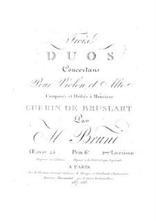Drei Duos für Violine und Bratsche, Op.25: Buch II by Antonio Bartolomeo Bruni