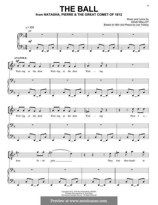 The Ball (Josh Groban): Für Stimme und Klavier by David Malloy