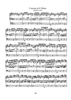 Chaconne in e-Moll, BuxWV 160: Für Orgel by Dietrich Buxtehude