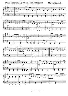 Danza Venezianas, Op.53: Danza Veneziana No.1 in Re Maggiore by Marzia Gaggioli