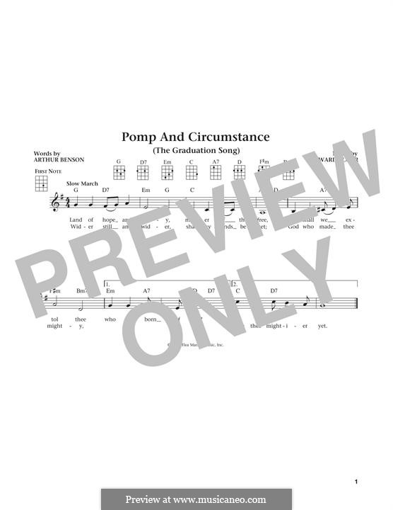 Pomp and Circumstance: Für Ukulele by Edward Elgar