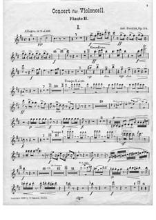 Konzert für Cello und Orchester in h-Moll, B.191 Op.104: Flötenstimme II by Antonín Dvořák