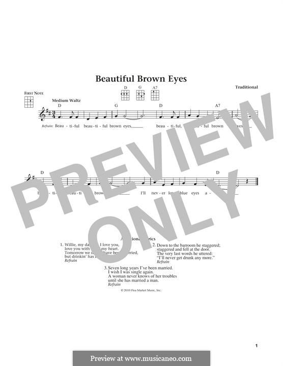 Beautiful Brown Eyes: Für Ukulele by folklore