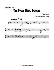 The First Noel Swings: For clarinet quartet – Bb clarinet 2 part by folklore