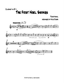 The First Noel Swings: For clarinet quartet – Bb clarinet 1 part by folklore