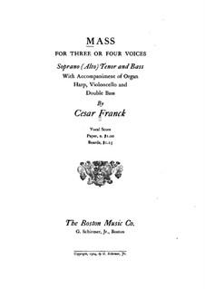 Messe in A-dur, FWV 61 Op.12: Partitur by César Franck