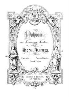Potpourri über 'Faust' von Gounod: Partitur für Klavier, vierhändig by Salomon Jadassohn