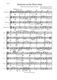 Variations on the Glory Song: For saxophone quartet by Charles Hutchinson Gabriel