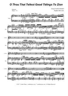 Nr.9 O du, der Gutes predigt zu Zion: For oboe solo and woodwind quartet by Georg Friedrich Händel