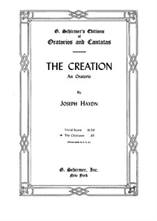 Die Schöpfung, Hob.XXI/2: Singpartitur by Joseph Haydn