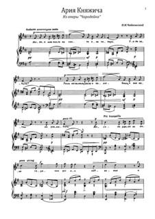Die Zauberin, TH 9: Aria of Prince Yuriy by Pjotr Tschaikowski