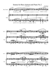 Sonata for Bass clarinet and Piano No.2 (The Berti Sonata's), MVWV 1141: Sonata for Bass clarinet and Piano No.2 (The Berti Sonata's) by Maurice Verheul