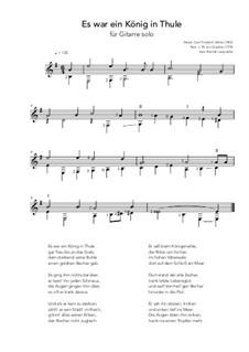 Es war ein König in Thule: Für Gitarre by Carl Friedrich Zelter