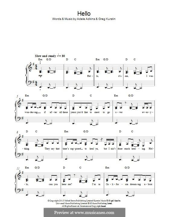 Instrumental version: Für Klavier by Adele
