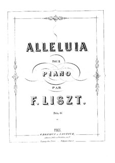 Halleluja in F-Dur, S.183 No.1: Halleluja in F-Dur by Franz Liszt
