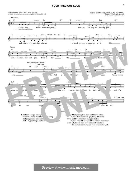 Your Precious Love (Marvin Gaye & Tammi Terrell): Melodische Linie by Nicholas Ashford, Valerie Simpson