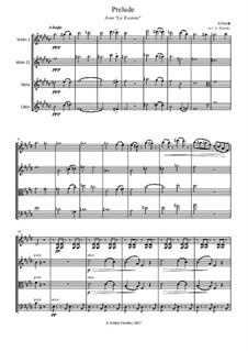 Fragmente: Prelude, for string quartet by Giuseppe Verdi