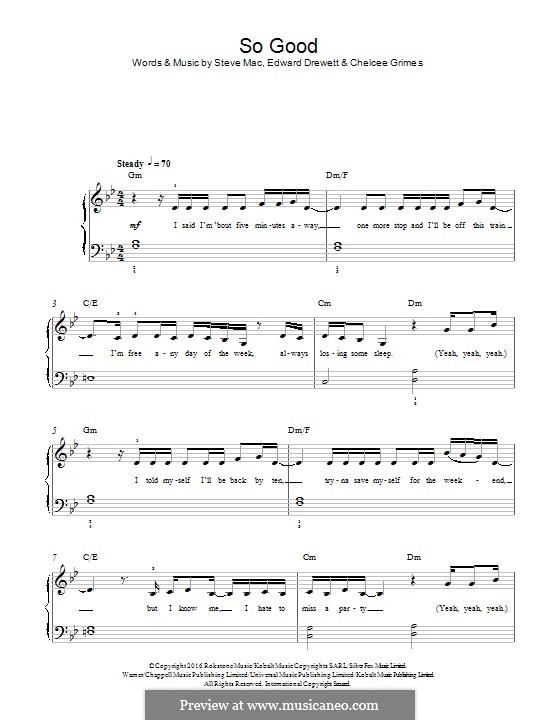 So Good: Für Klavier by Ed Drewett, Steve Mac, Chelcee Grimes