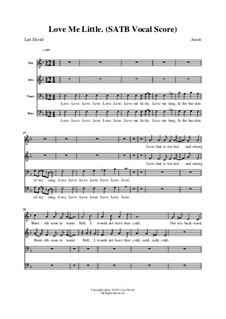 Love me Little: Singpartitur by Len David