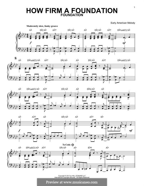 How Firm a Foundation: Für Klavier by folklore