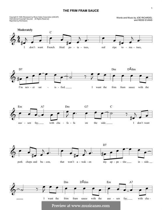 The Frim Fram Sauce: Melodische Linie by Joe Ricardel