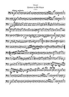 Streichquintett Nr.1 in B-Dur, K.174: Cellostimme by Wolfgang Amadeus Mozart