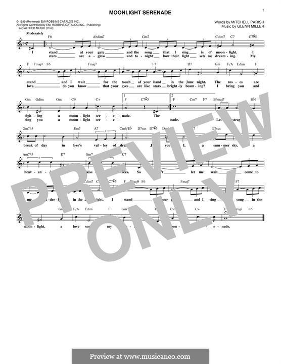 Moonlight Serenade: Melodische Linie by Glenn Miller